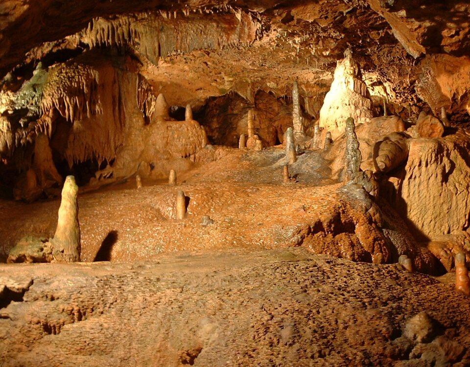 Stalagmites at Kents Cavern